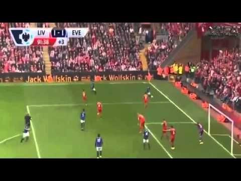 Phil Jagielka goal vs Liverpool - YouTube