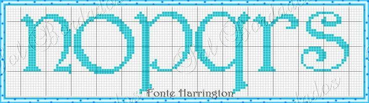 Lowercase Harrington N-S