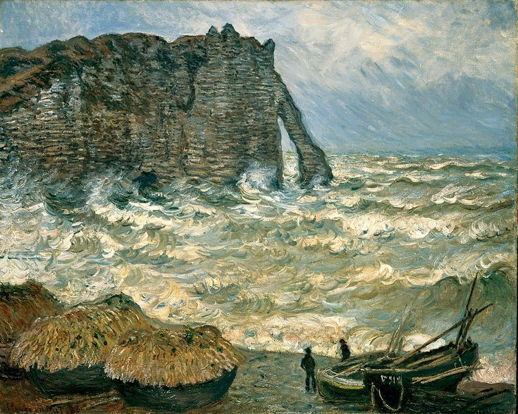 Mère agitée à l'Etretat | Claude Monet 1883                                                                                                                                                                                 Plus