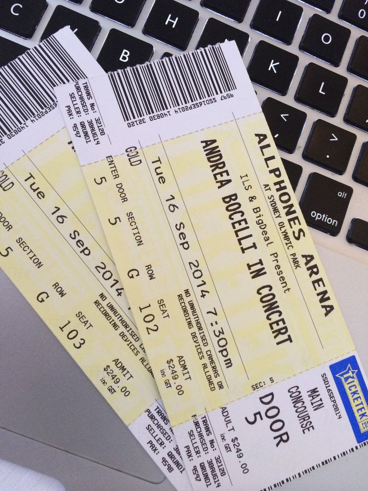#Tickets to #andreabocelli #ticketek #allphonesarena #sydneyolympicpark  #yes!