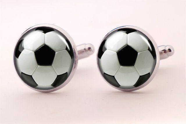 Piłka nożna - spinki do mankietów - Egginegg