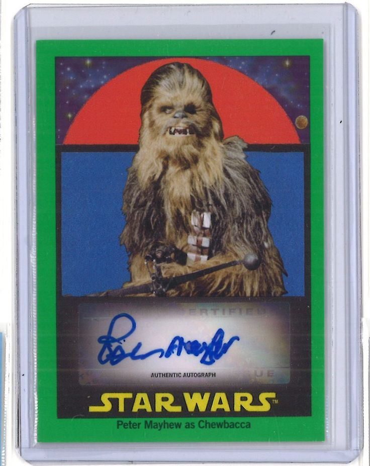 1/10 Green  2017 Topps Star Wars Sugar Free Auto  Peter Mayhew Autograph
