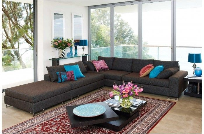 Nest 4 Piece Modular Lounge Suite Harvey Norman  1300L x 1000d x 380h plus 1500L x 1000D x 800H   ottoman 1000Lx1000dx40h