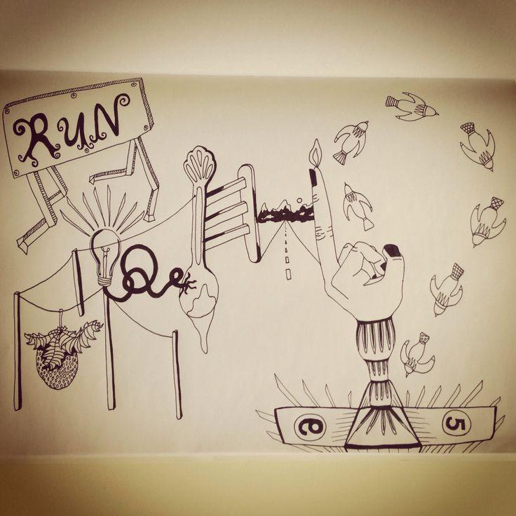 Run drawing  By L. Arjona