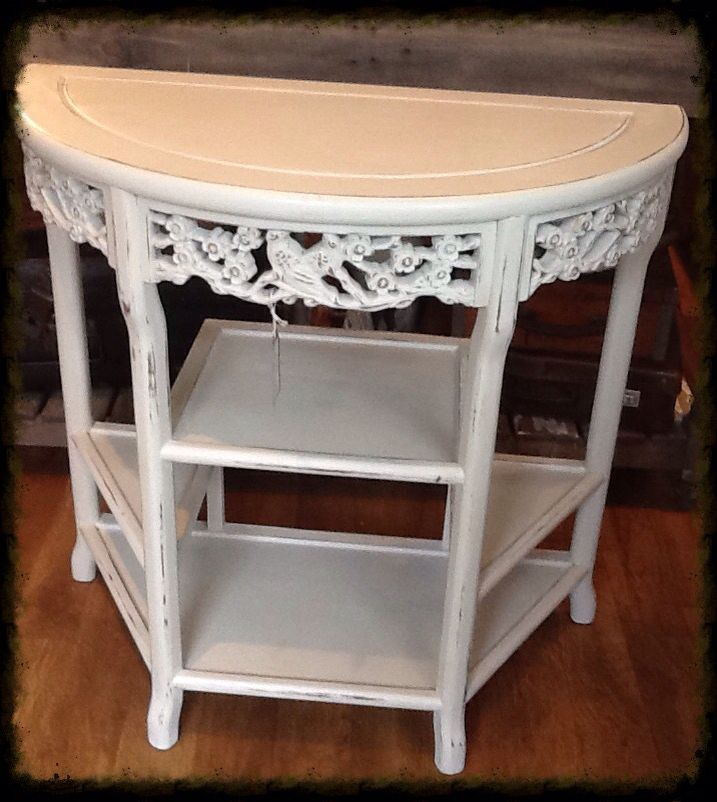 Beautiful carved hall table, painted in Everlong Vintage