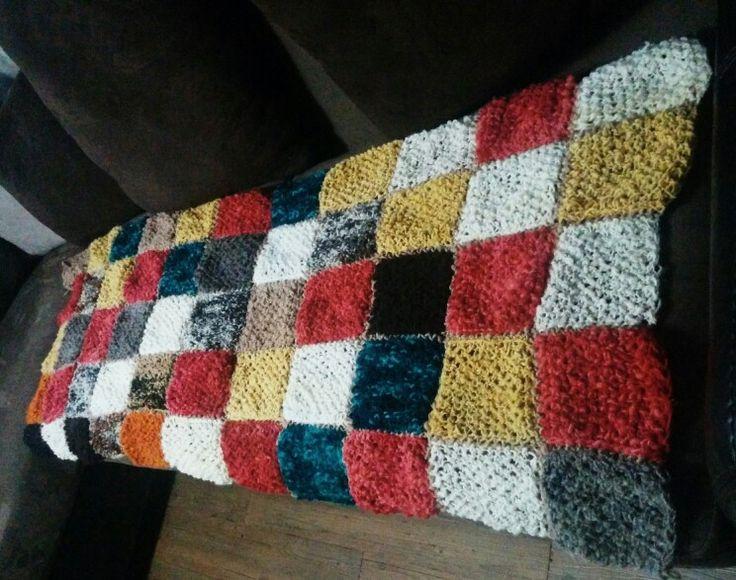 Manta lana chilota