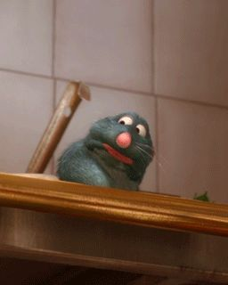 Ratatouille gif when Remy smells the soup. THE funniest part of the movie!!!