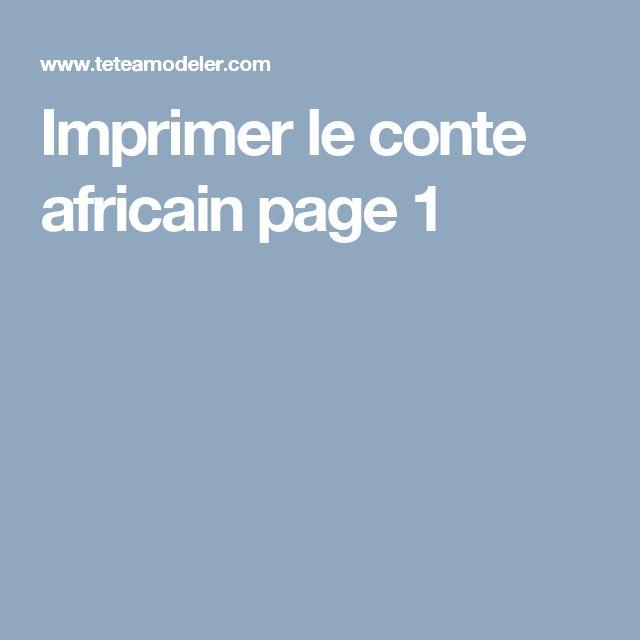 Imprimer le  conte africain page 1