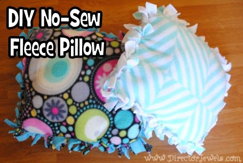 Director Jewels: Kid Craft: DIY No-Sew Fleece Tie Doll Pillow Tutorial