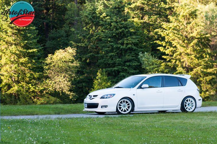 Mazda 3 White Hatch | Art of Stance - Westcoast Cars + Photography