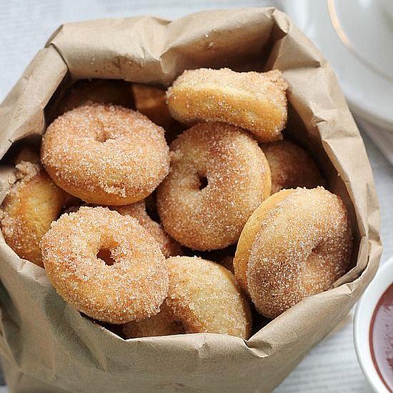 Baked Mini Donuts Recipe, Cinnamon Sugar Doughnuts- Baker Bettie