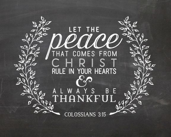 Colossians 3:15 Printable