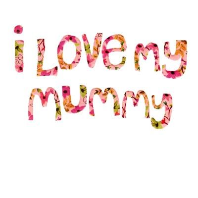 "Sweet card for a birthday or Mother's Day illustrated by Caroline Gardner with embossed floral detail ""I love my Mummy"" - £2.30"
