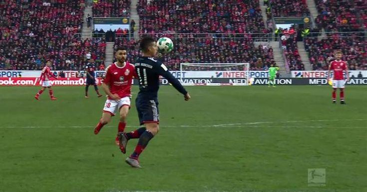 James Rodriguez scores superb volleyed goal for Bayern vs. Mainz | 2017-18 Bundesliga Highlights: * James Rodriguez scores superb volleyed…