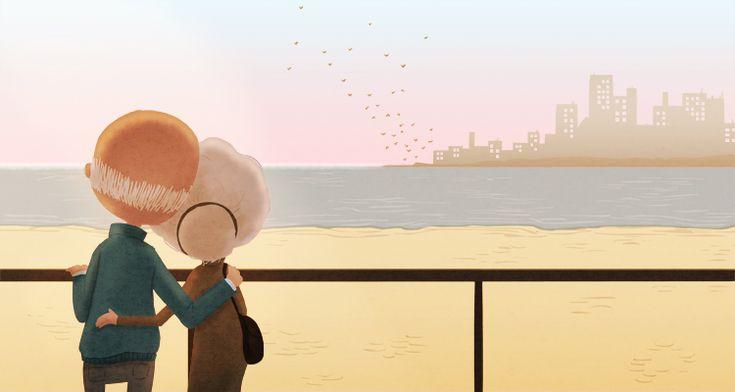 love you forever + nidhi chanani + illustration + ilustração + old couple + casal de velhotes