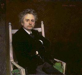 Edvard Grieg geschilderd door Eilif Peterssen, 1891. In deze voorstelling gebruiken we de orginele muziek van hem.