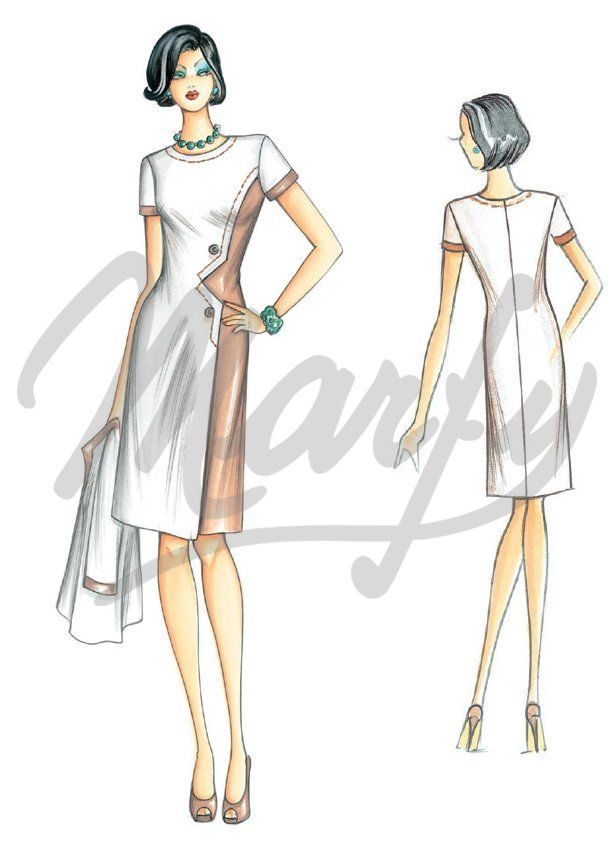 Our Patterns :: Marfy Collection 2014/2015 :: Sewing Pattern 3339 -