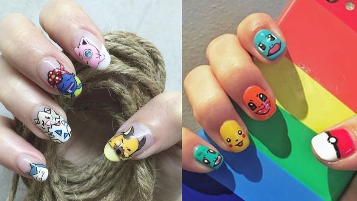Adorable Pokemon GO-Inspired Nail Arts You will Love to Have