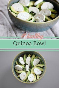 Quinoa Bowl mit Avocado, Ziegenkäse und Granatapfel. #healthyfood in echt lecker!
