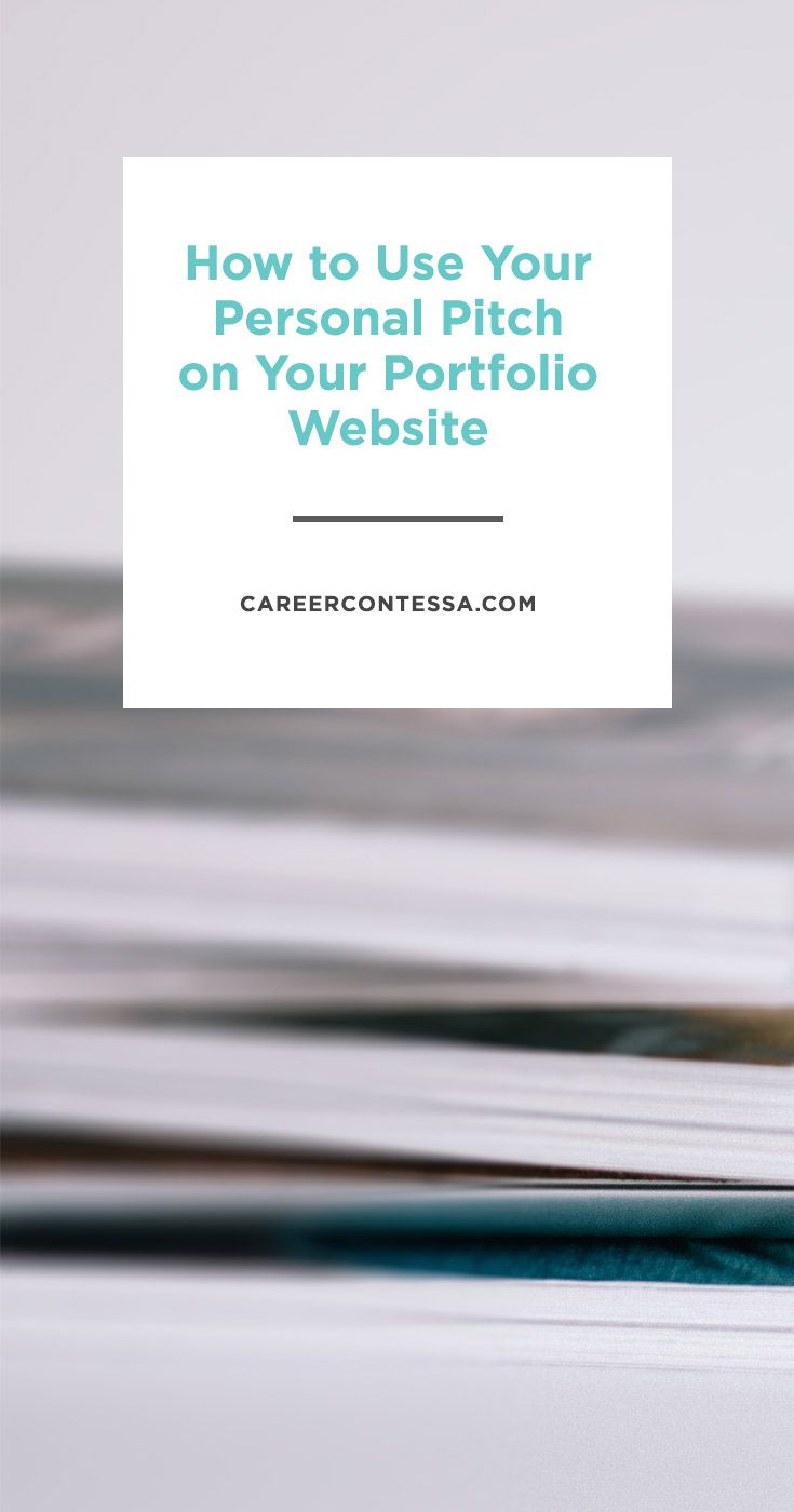 medical billing resumes%0A How to hone your personal pitch and use it on your portfolio website     Career
