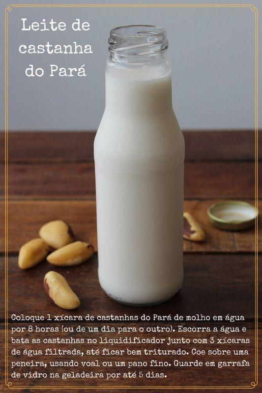 Como fazer leite de castanha do Pará