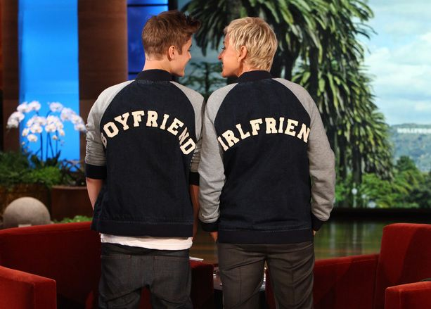 This is Justin Bieber and Ellen wearing these lol.  But I would love these jackets for when I have a bf.  They're sporty and cute.  :)