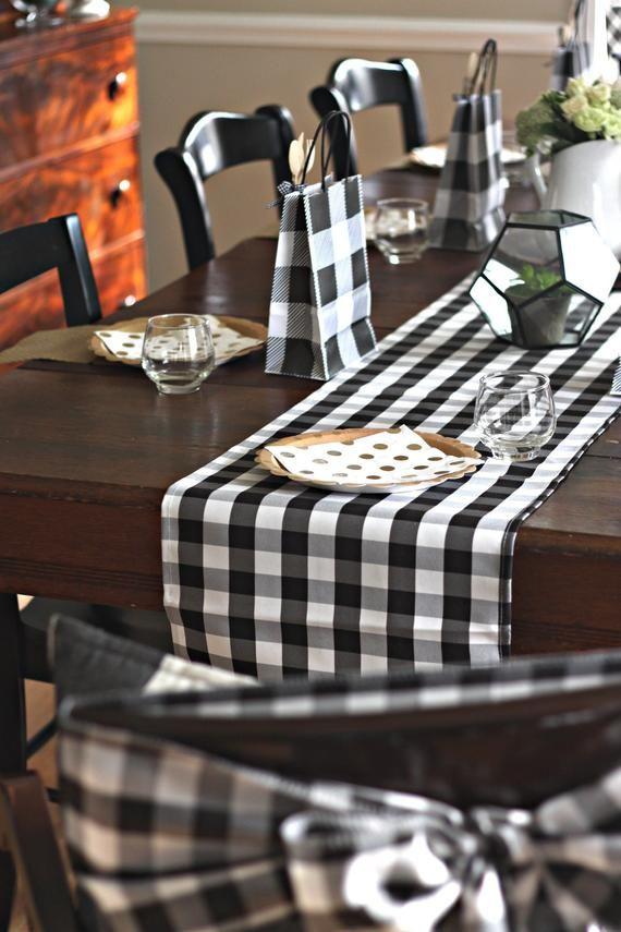 Buffalo Plaid Table Runner I Do Bbq Baby Q Wedding Table Runner Spring Bridal Showe Buffalo Plaid Table Runner Bbq Decorations Buffalo Check Table Runner