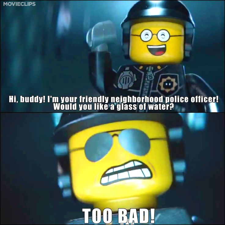 Good Cop/Bad Cop - One of our favorite scenes from The LEGO Movie.