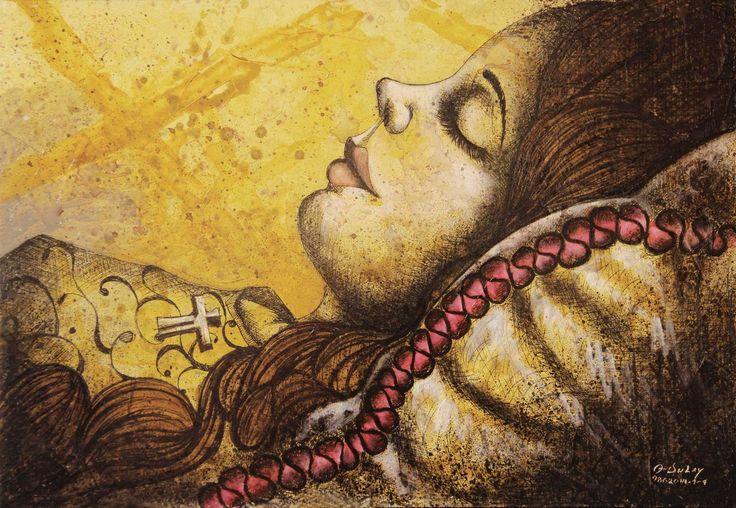 Madame Bovary en su lecho de muerte - Angelo Dulay