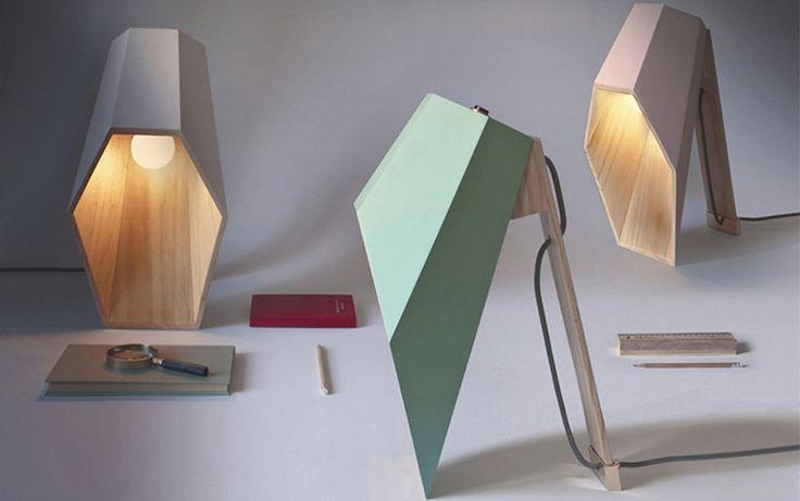 Lampe de table Woodspot  par Alessandro Zambelli