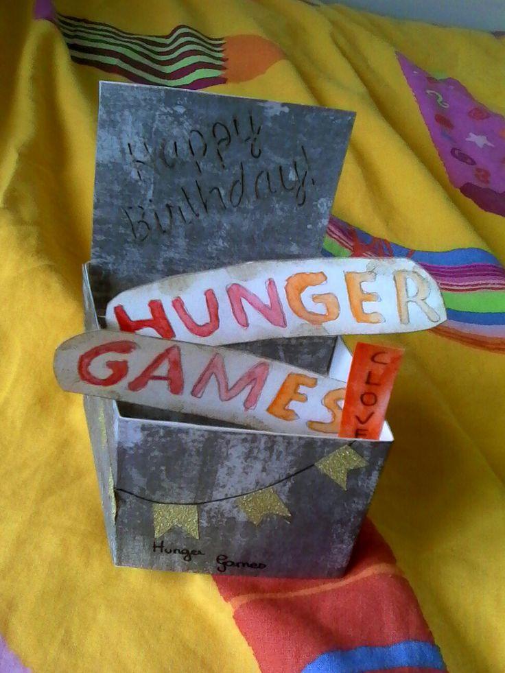 Carte Hunger Games anniversaire