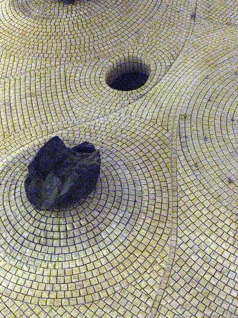 Noguchi - reminds me of the Japanese dry garden tradition but in tile