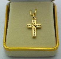 Solid Gold Cross Pendant