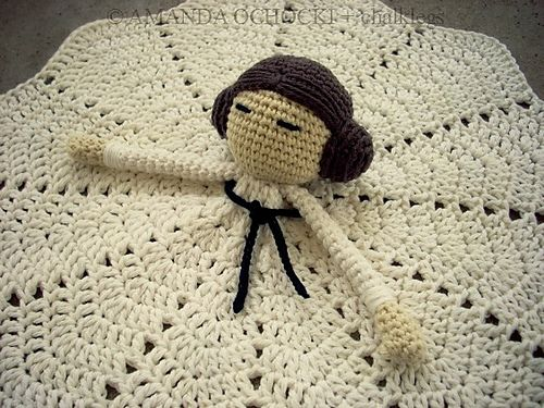 Rebel Princess Lovey free crochet pattern. I might have to talk my sister into learning to crochet as well as knit, this is adorable!