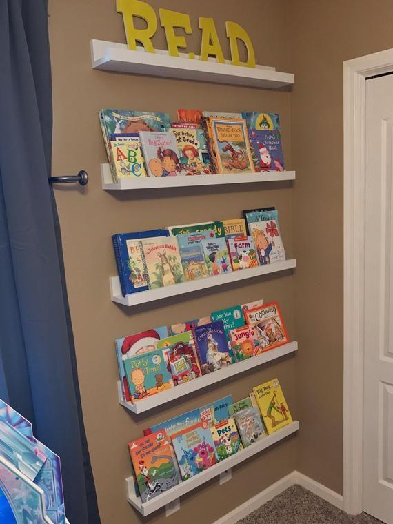 Floating Shelves Ledge Shelf Kids Books Wooden Shelves