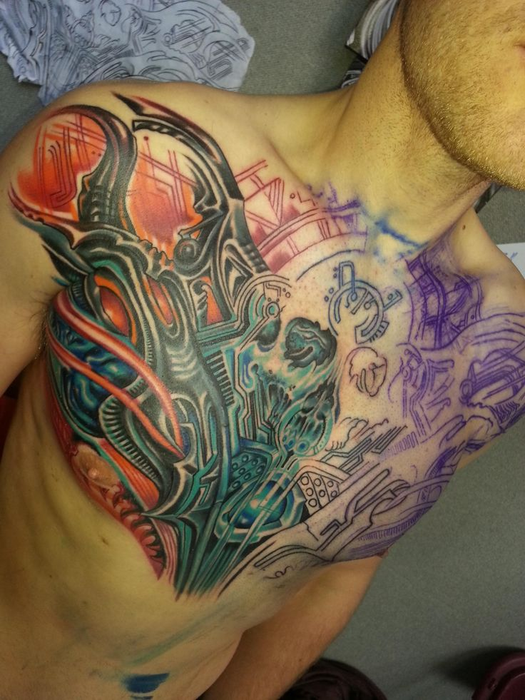 387 Best Images About Chest Piece Tattoos On Pinterest