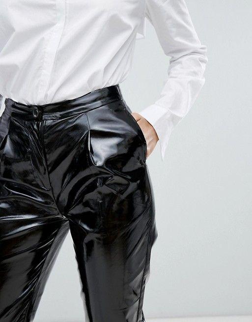 Vinyl High Waisted Pants