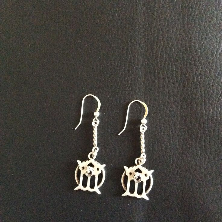 Samiska örhängen av silver. Sami earrings from Jokkmokk.