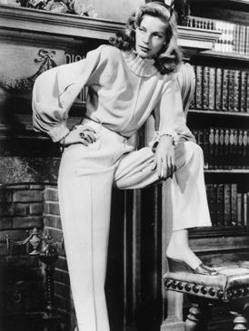 Lauren Bacall era la imagen de la mujer segura e independiente de los años 40.
