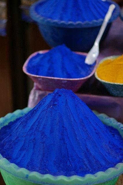 Spice market in Egypt – indigo