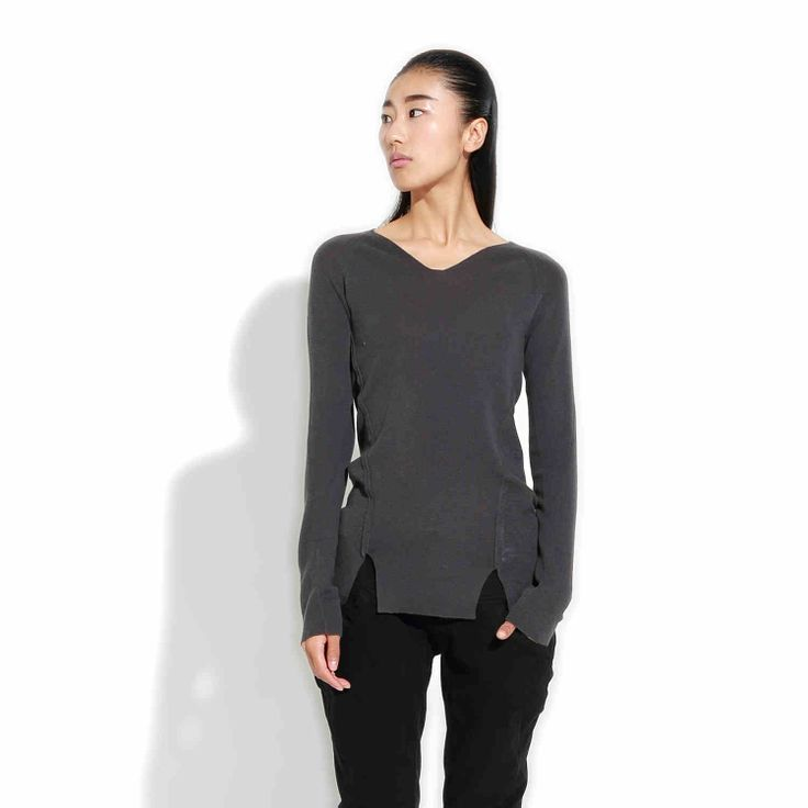 [Новое] JNBY Южная простолюдина зима элегантная простота твердых теплой шерсти V-образный вырез свитера 5C68E16-tmall.com Lynx