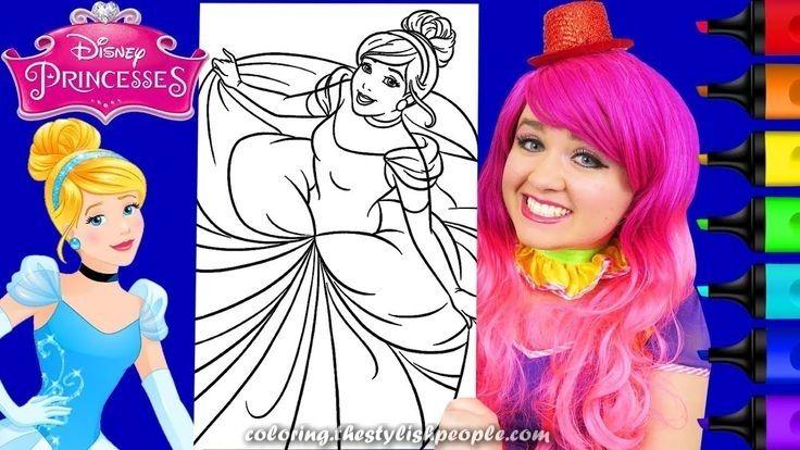 Excellent Coloring Cinderella Princess Disney Giant Coloring Crayons Crayola Cinderella Disney Disney Princess Disney