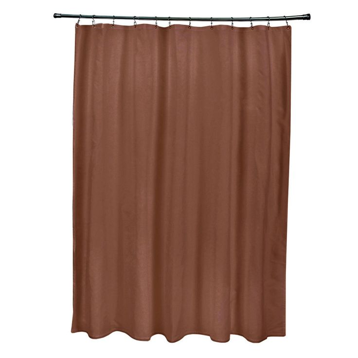 Consider this distinctive shower curtain if you're looking to update the appearance of your bathroom. The curtain's unique copper color works well in bathrooms featuring neutral, metallic or earth toned schemes.