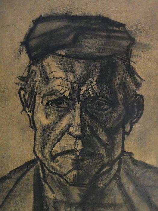 Jan Toorop (1858- 1928) - Portret van een Katwijker visser - 1918