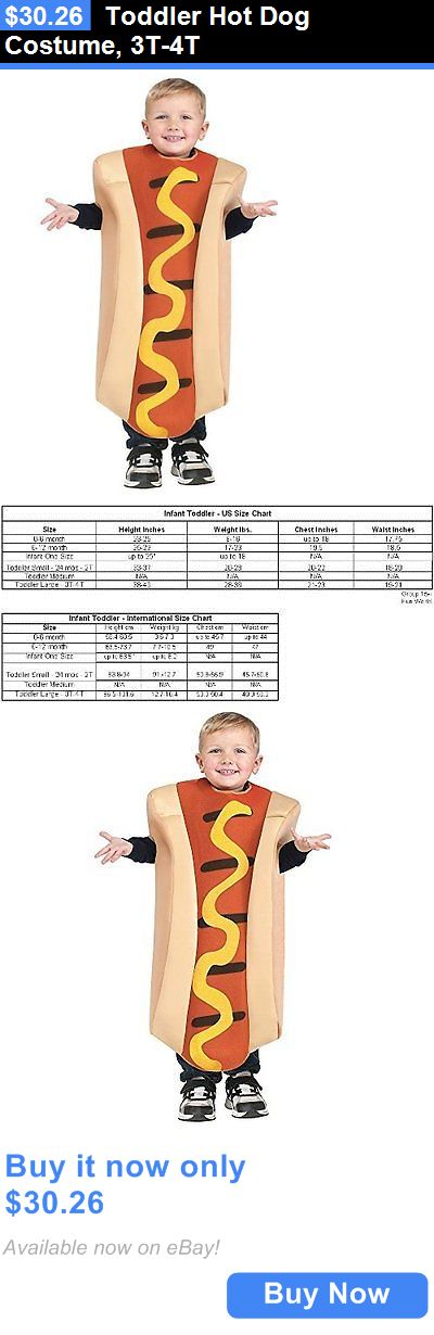 Halloween Costumes Kids: Toddler Hot Dog Costume, 3T-4T BUY IT NOW ONLY: $30.26