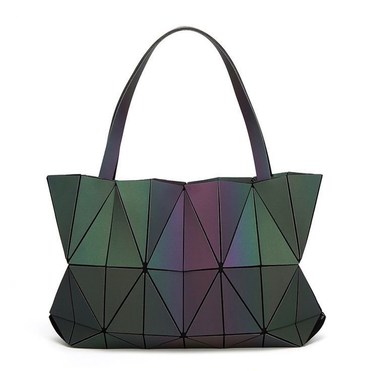 33.59$  Watch here - http://alibk3.shopchina.info/1/go.php?t=32811502176 - Hot Sale Japan Bag Folding Chains Handbag Luxury Lucent Prism Rock Tote Bag Casual Shopper Tote luminous Women holographic Bao  #buychinaproducts