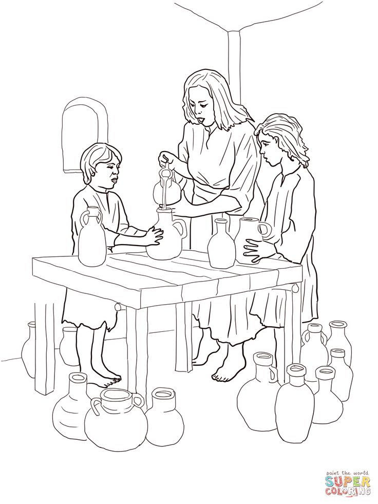 Elijah Heals The Widow S Son Coloring Page