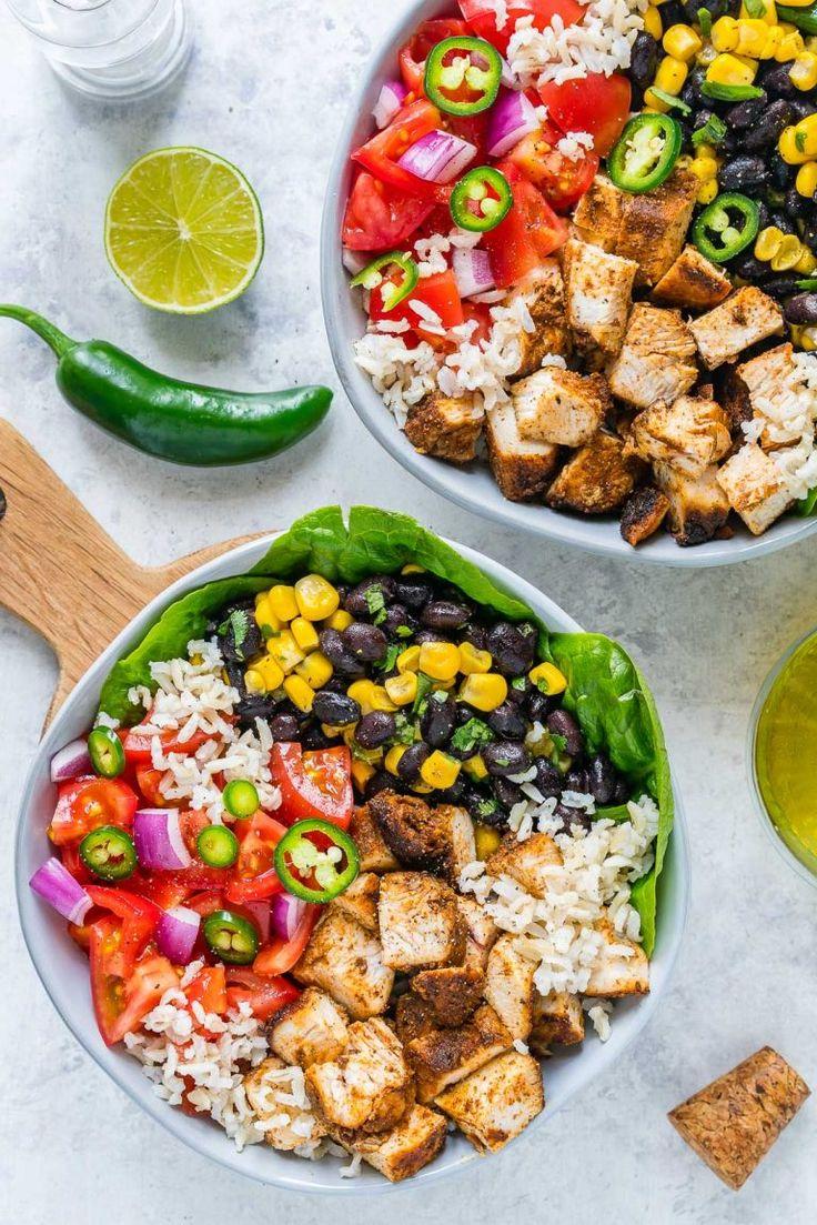 BBQ Chicken Burrito Bowls – CleanFoodCrush Recipes