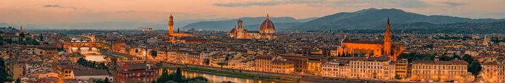 Florance by Night - Panorama of the Florence from Michelangelo Plaza.