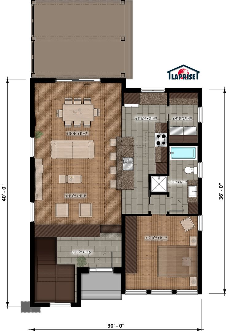 Designer zen contemporain lap0510 maison laprise maisons pré usinées